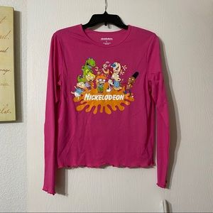 Nickelodeon Long Sleeve Graphic Tee NWT